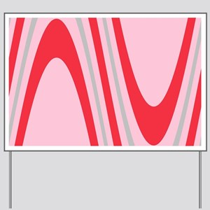 Pink Wavy Francesca's Fave Yard Sign