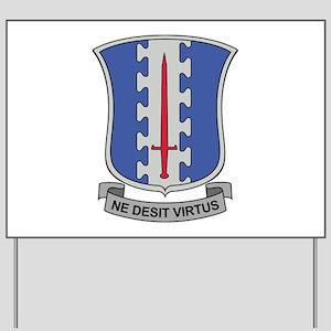 187th Infantry Regt DUI Yard Sign