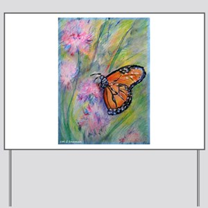 Bright, butterfly, art Yard Sign