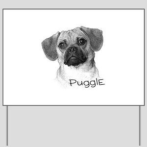 Perfect Puggle Portrait Yard Sign