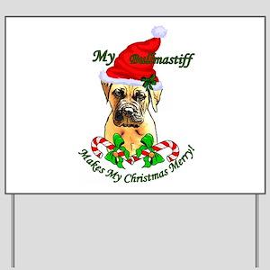 Bullmastiff Christmas Yard Sign