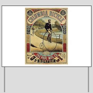 Vintage poster - Columbia Bicycle Yard Sign