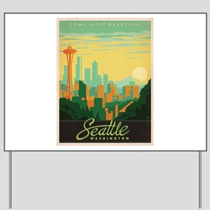 Vintage poster - Seattle Yard Sign