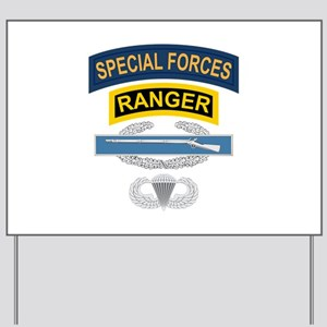 SF Ranger CIB Airborne Yard Sign