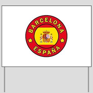 Barcelona España Yard Sign