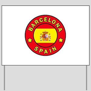 Barcelona Spain Yard Sign