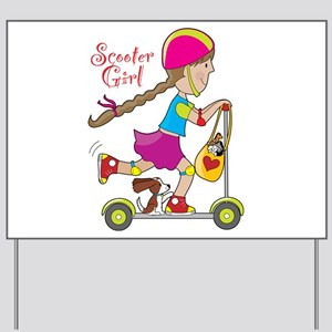 Scooter Girl Yard Sign