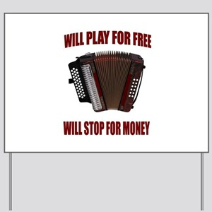 ACCORDION FUN Yard Sign