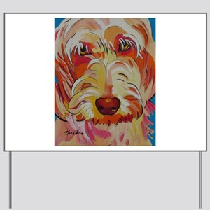 Harvey the Doodle Yard Sign