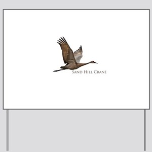 Sandhill Crane in Flight Yard Sign