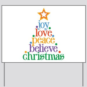 Joy Love Christmas Yard Sign