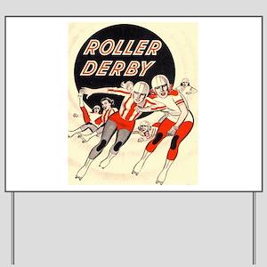Roller Derby Advertisemnt Image Retro Derby Girl Y