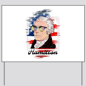 Alexander Hamilton in Color Yard Sign