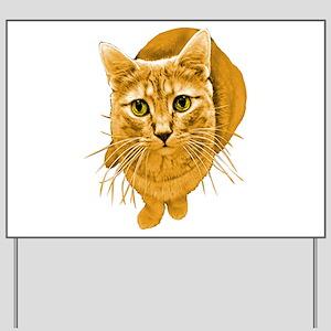 Orange Cat Yard Sign