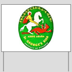 Ethiopia Beer Label 1 Yard Sign