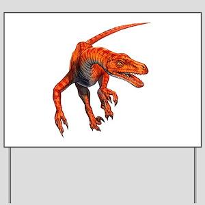 Velociraptor Raptor Dinosaur Yard Sign