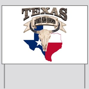 Bull Skull Texas home Yard Sign