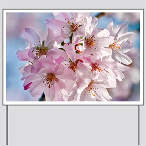Japanese Cherry Blossoms Yard Sign