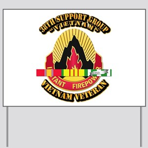 38th Support Group w SVC Ribbon Yard Sign
