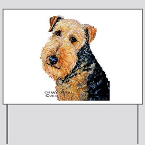 Airedale Terrier Portrait Yard Sign