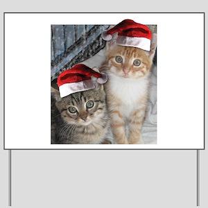 Christmas Tabby Cats Yard Sign