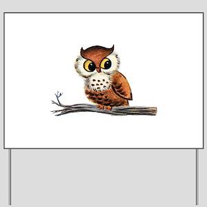 Vintage Owl Yard Sign