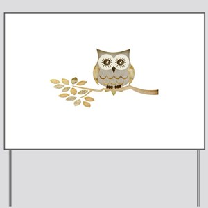 Apothecary Owl Branch 1 copy Yard Sign