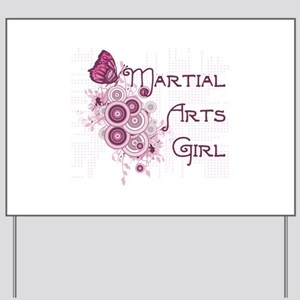 Martial Arts Girl Yard Sign