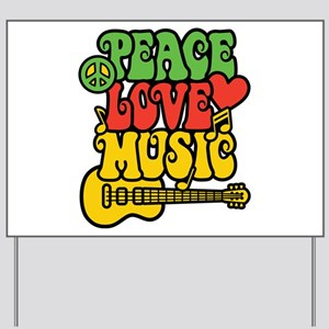 Peace-Love-Music Yard Sign
