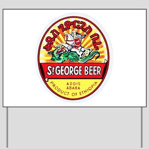 Ethiopia Beer Label 4 Yard Sign