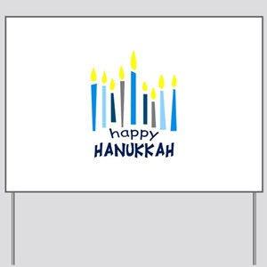 HAPPY HANUKKAH Yard Sign