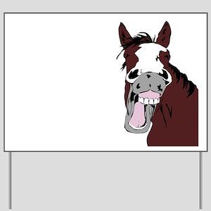Cartoon Horse Laughing Funny Equestrian Art Yard S