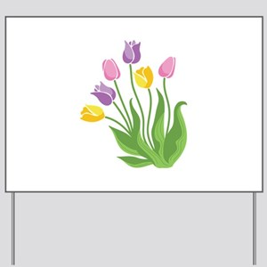 Tulips Plant Yard Sign