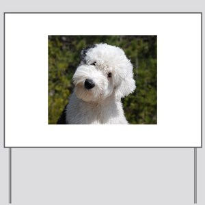 olde english sheepdog puppy Yard Sign