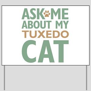 Tuxedo Cat Yard Sign