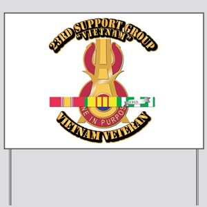 Army - 23rd Support Group w SVC Ribbon Yard Sign
