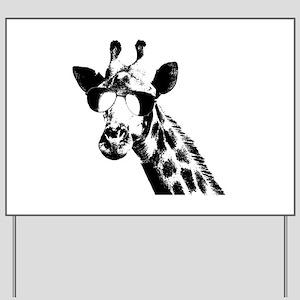 The Shady Giraffe Yard Sign