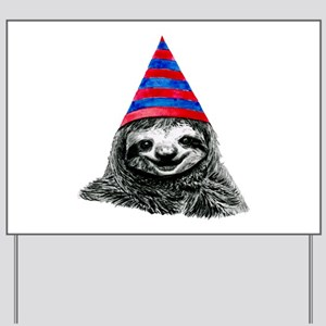 Party Sloth Yard Sign