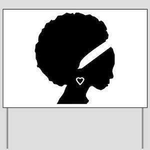 Afro-American Woman Yard Sign