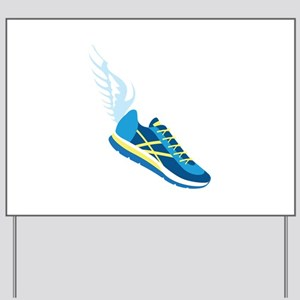 Running Shoe Wing Yard Sign