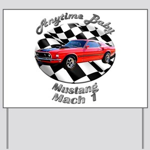 Ford Mustang Mach 1 Yard Sign