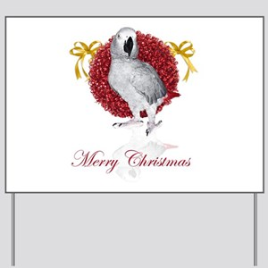 african grey parrot holiday Yard Sign
