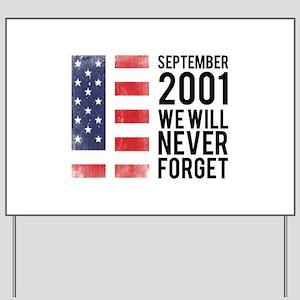 9 11 Remembering Yard Sign