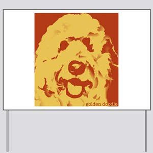 goldenDoodle_2tone_type1 Yard Sign