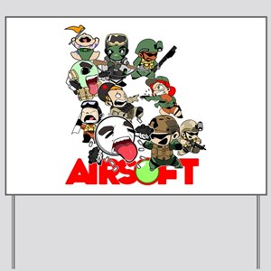 Airsoft Battle Royale Yard Sign