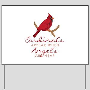 Cardinals Appear Yard Sign