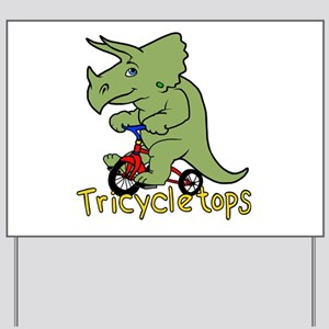 Triceratops Bicycle Yard Sign