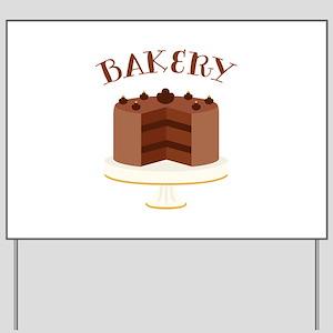 Chocolate Cake Bakery Yard Sign