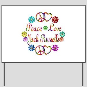 Jack Russells Yard Sign