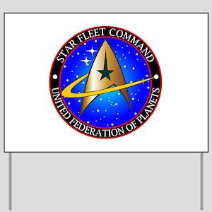 Star Fleet Command Yard Sign